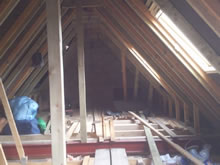 Loft Conversion in the early stages in Bury St Edmunds, Suffolk