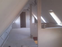 Loft Conversion ready for second fix in Bury St Edmunds, Suffolk