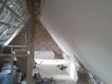 Loft Conversion during construction in Bury St Edmunds, Suffolk